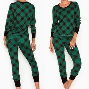 Victoria's Secret Green Buffalo Check Pajamas